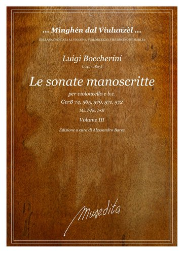 L.Boccherini - Le sonate manoscritte - Volume III