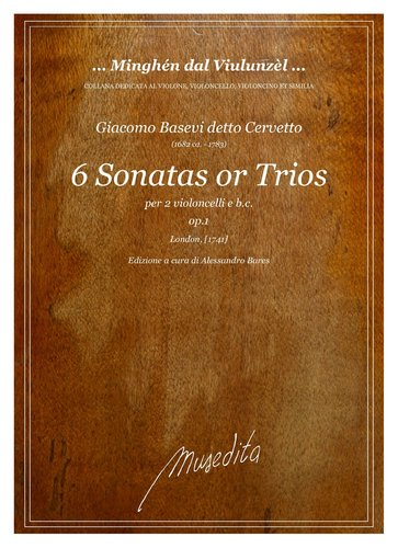 G.Cervetto - 6 Sonatas or Trios (London, [1741])