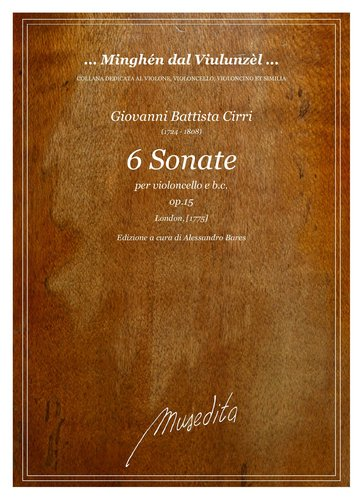 G.B.Cirri - 6 Sonate op.15 (London, s.a.)