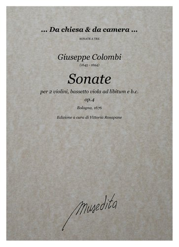 G.Colombi - Sonate op.4 (Bologna, 1676)