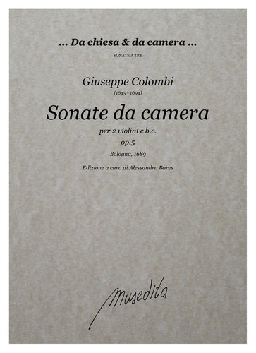 G.Colombi - Sonate da camera op.5 (Bologna, 1689)