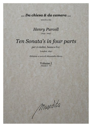 H.Purcell - Ten Sonata's in four parts (London, 1697)