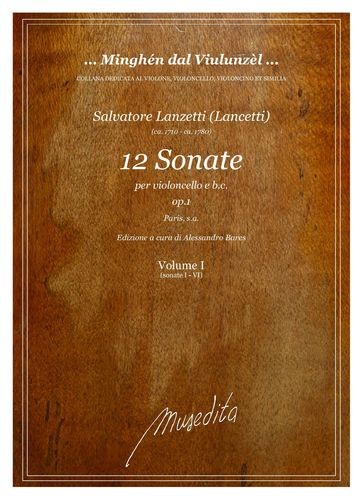 S.Lanzetti - 12 Cello sonatas op.1