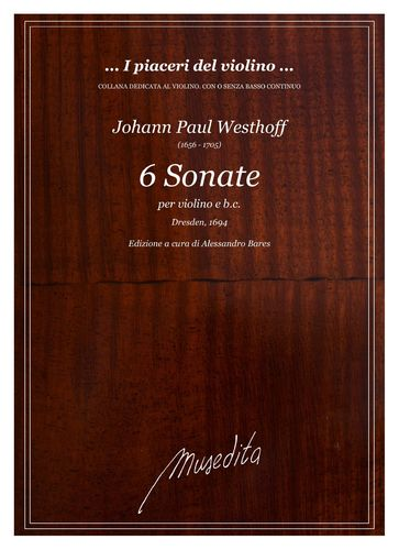 Westhoff, 6 Sonatas for violin and b.c.