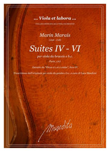 M.Marais: Suites IV - VI (Paris, 1717)