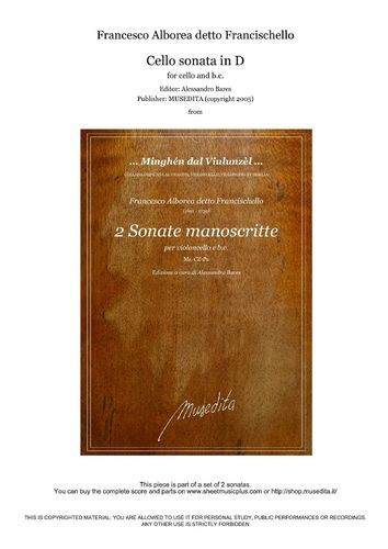 Francischello, Cello sonata in D